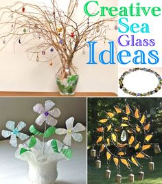 Creative DIY Seaglass Ideas for the home! At Completely Coastal: http://www.completely-coastal.com/2014/07/diy-seaglass-decorations.html