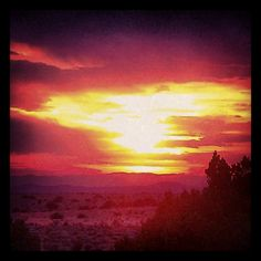Santa Fe, NM sunset.