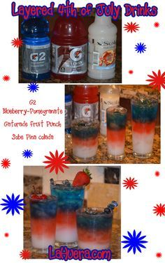 Layered 4th of July Drinks  http://www.lahuera.com/layered-4th-of-july-drinks/
