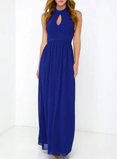 Halter Hollow Out Solid Color Dress. $15.60 from Sammydress. Ship worldwide with Borderlinx.com