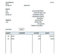 Invoice Template To Download Typical Simple Sales Purchase Invoice  Blank Invoice Template Pdf .