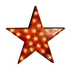 It's true the stars come out at night, so why not bring one into your home? The glowing marquee lights of this handmade star add mood lighting and retro Hollywood brilliance to your home, either indoors or on the patio. By daylight, its bright, antiqued red finish gives it that chic, vintage charm.