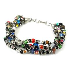 Shop for Handmade Beaded 'Colorful Opportunity' Bracelet (Kenya). Get free delivery On EVERYTHING* Overstock - Your Online Jewelry Destination! Bracelet Clasps, Strand Bracelet, Bracelet Set, Bracelet Making, Ankle Bracelets, Jewelry Bracelets, Jewelry Art, Women Jewelry, African Beads