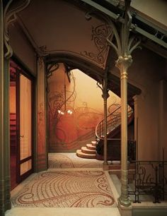 Victor Horta's house for the Tassel family in Brussels, built in 1892. In 2000 it was classified as a UNESCO World Heritage Site.
