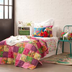 Multicolour Patchwork Decorative Quilt and Cushion Cover | ZARA HOME Brasil
