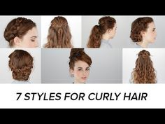 7 Easy Hairstyles For Curly Hair  Curly hair is a godsend. Sure, you might not think that all the time, but curly hair has so many benefits! #teelieturner