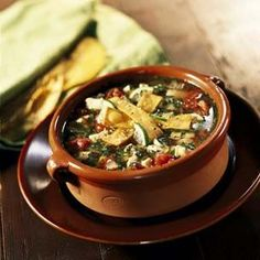 Sopa de lima...a fave of my guests for Sunday football gatherings: chicken tortilla and lime soup