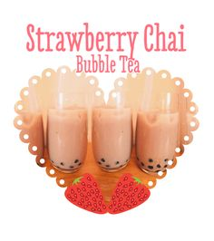 Ingredients (serves 2 people):  1/2 cup quick cook tapioca pearls   400ml Rice milk   100ml coconut cream  100ml coconut milk   2 bags of black tea  5 tbsp agave nectar   1 cup frozen strawberries