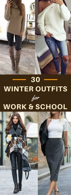25 Brilliant Image of Cozy Winter Work Outfits For Women . Cozy Winter Work Outfits For Women 30 Decent Yet Chic Winter Outfits For Work And School Chic Winter Outfits, Winter Outfits For Work, Cute Fall Outfits, Winter Dresses, Classy Outfits, Casual Outfits, Work Outfits, Winter Clothes, Evening Dresses