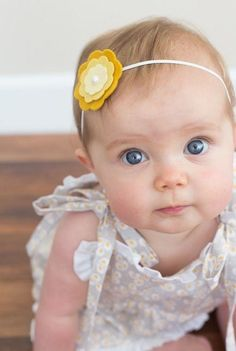 Rosy in Ruffles Sundress tutorial-for Melly sews….with a free pattern! – Craftiness Is Not Optional Diy Baby Headbands, Felt Headband, Baby Bows, Baby Crafts, Felt Crafts, Sundress Tutorial, Sundress Pattern, Kids Hair Bows, Baby Hair Accessories