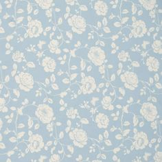 Meadow Curtain Fabric Powder Blue offers a soft gentle look that's refreshing as a warm spring morning. You'll love the cascading flowers in the pattern on the soft swirling white stems. Bedroom Dresser Styling, Blue Gray Bedroom, Blue And White Fabric, Blue Grey, Free Fabric Samples, White Interior Design, Grey Curtains, White Prints, Cool Fabric