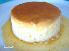 Flan de huevo (paso a paso) cl?sico y caf - Foro de Cocina - MundoRecetas.com Sweet Desserts, Vanilla Cake, Yogurt, Cheesecake, Sweets, Cookies, Mousse, Recipes, Food