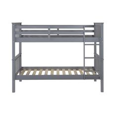 WE Furniture Solid Wood Mission Design Bunk Bed Twin Grey >>> You can get more details by clicking on the image. (This is an affiliate link)