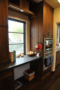 Bryant Street Residence - LEED Platinum Rated Kitchen Pantry, Kitchen Cabinets, Spanish Courtyard, Pantry Ideas, White Kitchens, Desk, Street, Pictures, Home Decor