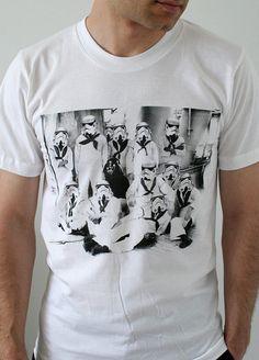 Vader's first Crew - Mens t shirt / Unisex t shirt (Star Wars / Stormtrooper t-shirt)