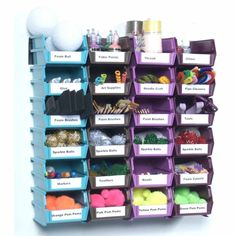 Wall Storage System Bins Wall Organizer 24 Small Craft Tool Store Mountable Hang #MountableWorkshopStorageBins