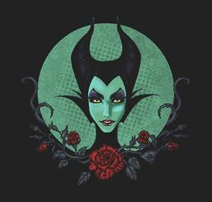 maleficent... artist info unknown...  daily needs of an art bitch ~ love love love this!!!!!