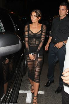 Party time: The looker arrived to the Republic Records' VMA afterparty in West Hollywood o...