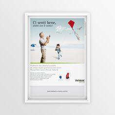 "Print advertising for Phonak ""Ci senti bene..."" 2013 #creative #design #adv www.gioart.com"