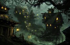 Village of Scale by chriskuhlmann.deviantart.com on @deviantART