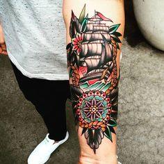 """287 Beğenme, 9 Yorum - Instagram'da Lucky Anchor (@notluckyanchor): """"Traditional #American #tattoo"""""""
