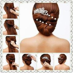 simple hairstyle step by step instructions - Google Search
