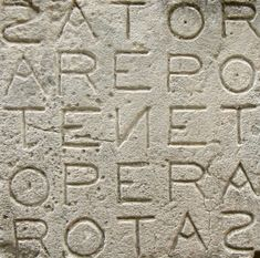 The Sator Square, one of the earliest known palindromes is a square that reads the same forwards, backwards, upwards and downwards, dating back as far back as 2000 years ago in the ruins of Pompeii. It's meaning has been an enigma, although scholars agree on the individual words. According to John T. Cullen, this meme could mean `God holds the plough, but you turn the furrows'.