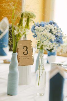 Wunderschöne DIY Hochzeit in zartem Blau