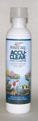 Brand New, MARS FISHCARE NORTH AMERICA, - POND CARE ACCU CLEAR 8OZ (POND PRODUCTS - POND - WATER CARE) by MARS FISHCARE NORTH AMERICA,. $11.59. Brand New, MARS FISHCARE NORTH AMERICA, - POND CARE ACCU CLEAR 8OZ (POND PRODUCTS - POND - WATER CARE)  Pond Clarifier •Quickly clears cloudy pond water by causing tiny suspended particles to clump together, forming larger particles that fall to the bottom and are siphoned out or removed by the pond filter. Maintains cry...
