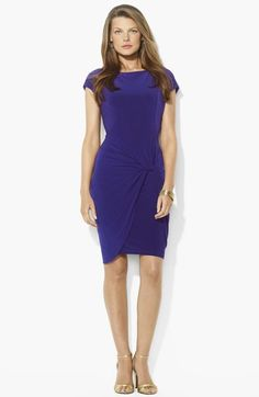 Lauren Ralph Lauren Knotted Jersey Sheath Dress available at #Nordstrom