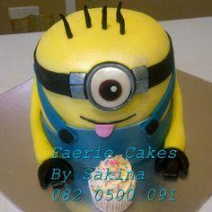 3d minion cake Novelty Cakes, Faeries, Minions, 3d, Character, The Minions, Fairies, Sprites, Minion Stuff