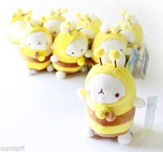 "Molang 5"" Honey Bee Cute Bunny Rabbit Plush Doll Toy Cushion Figure Decor Kawaii   eBay"