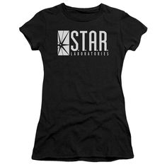Flash S.T.A.R. Labs on Black T-Shirt
