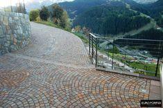 Pavimentazione di una villa privata realizzata in Val Gardena (Bolzano) con cubetti di porfido del Trentino controllato. - - #porfido #porfidotrentino #pavimenti #photooftheday #beautiful #polistone #square #sigillature #art #nature #style #instalike #nofilter #photo #design #moda #cucina #piscina #europorfidi #firstpost #instagramhub #piazza #cut #marmomac #firstpost #ciclabile #work #stone #porphiry #lavori Design Moda, Outdoor Furniture, Outdoor Decor, Mountains, Travel, Beautiful, Instagram, Home Decor, Style