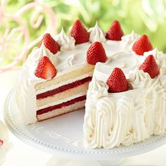 Makes 16 servings Bake: 28 minutes, Cool: 1 hour 2 boxes white cake mix 6 large egg whites cups buttermilk cup vegetable oil 2 teaspoons butter-fl Mini Cakes, Cupcake Cakes, Cupcakes, Sandra Lee Recipes, Strawberry Shortcake Recipes, White Cake Mixes, Salty Cake, Monkey Bread, Pasta