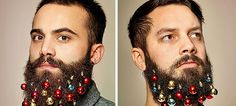 Turn Your Beard Into A Christmas Tree With These Beard Baubles | DeMilked