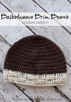 Basketweave Brim Beanie Crochet Pattern (Crochet Along for a Cause) | Hooked on Homemade Happiness