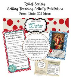 Little LDS Ideas: Relief Society Activities, includes visiting teaching brunch activity Visiting Teaching Conference, Visiting Teaching Gifts, Relief Society Lessons, Relief Society Activities, Church Activities, Teaching Activities, Teaching Ideas, Enrichment Activities, Spiritual Church