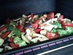 Roasted Veggies are so easy to make in your toaster oven. See the recipe here-- I love my toaster oven!!