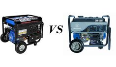Comparison between two powerful portable generators: DuroMax XP1000E and Westinghouse WH7500E.