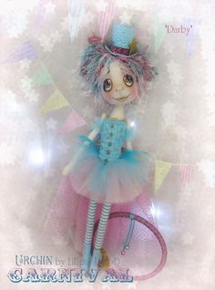 Urchin Art Doll 'Darby' by Vicki at Lilliput Loft