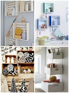 Organizar o banheiro | Cestas