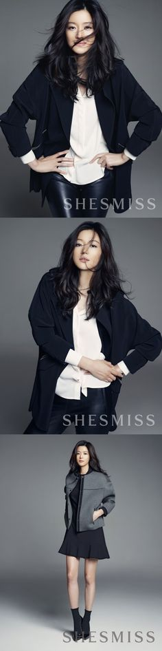 Jun Ji Hyun Shows Off Her Charismatic Charms as SHESMISS Model