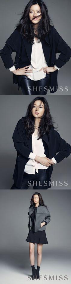 Jun Ji Hyun Shows Off Her Charismatic Charms as SHESMISS Model
