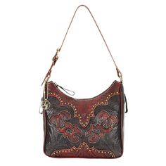 American West Annie's Secret Tooled Leather Concealed Carry Purse | The Wanted Wardrobe Boutique