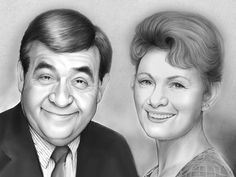"""Tom Bosley and Marion Ross as The Cunninghams on """"Happy Days"""""""