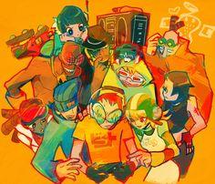Jet Set Radio via Pixiv Character Art, Character Design, Character Sketches, Z Toon, Jet Set Radio, Gamers Anime, Video Game Art, Retro Futurism, Art Inspo