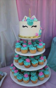 Babyparty Einhorn 2019 The post Babyparty Einhorn 2019 appeared first on Baby Shower Diy. Unicorn Themed Birthday Party, Birthday Party Decorations, 5th Birthday, Birthday Ideas, Unicorn Birthday Cakes, Birthday Cakes For Girls, Unicorn Baby Shower Decorations, Rainbow Unicorn Party, Cake Girls
