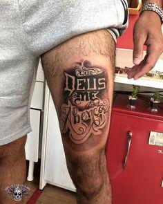 Que Deus me Abençoe Tattoo na coxa Life Tattoos, Body Art Tattoos, Tattoo On, Top Tattoos, Tatoos, Some Image, Tattoo Inspiration, Edilson, Mac