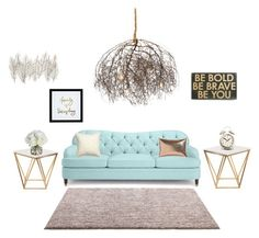 """Chic living"" by andrea-michelle99 ❤ liked on Polyvore featuring interior, interiors, interior design, home, home decor, interior decorating, Kate Spade, ESPRIT, Nuevo and Primitives By Kathy"